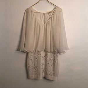 [Arden B] Cream Embellished Dress - Size Medium